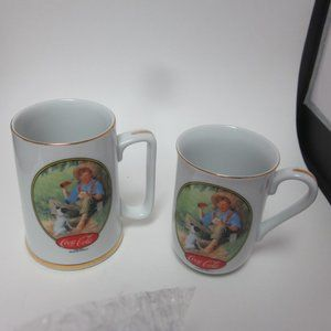 Coca Cola tankard and mug set